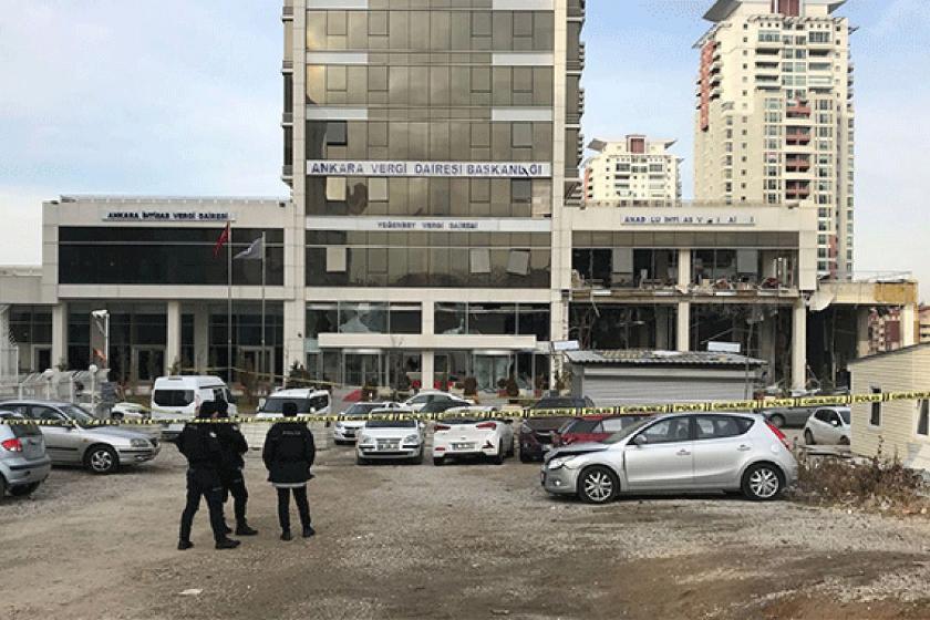 Ankara Vergi Dairesi Başkanlığı'na yönelik bombalı saldırı.