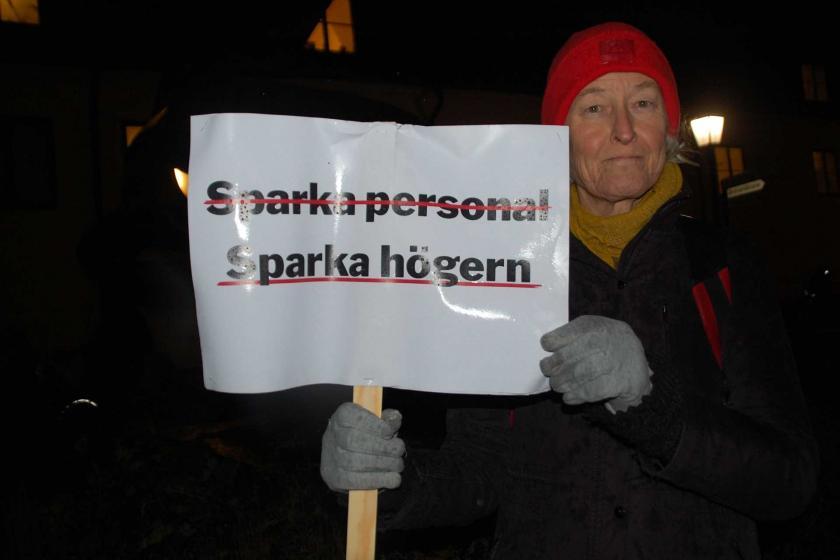 İsveç'te sağlık emekçileri eylem yaptı.