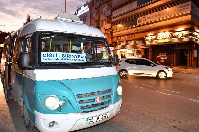 İzmir'de minibüs