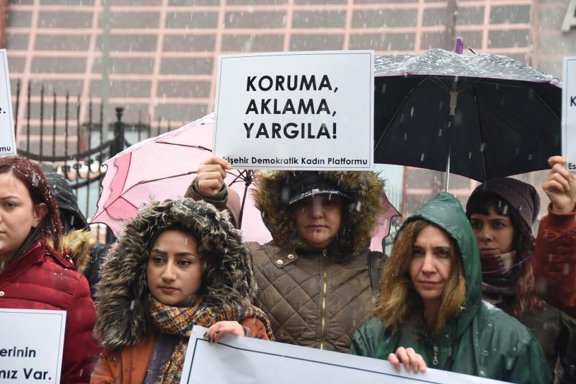 Eskişehir'de Ayşe Tuba Arslan için yapılan eylem