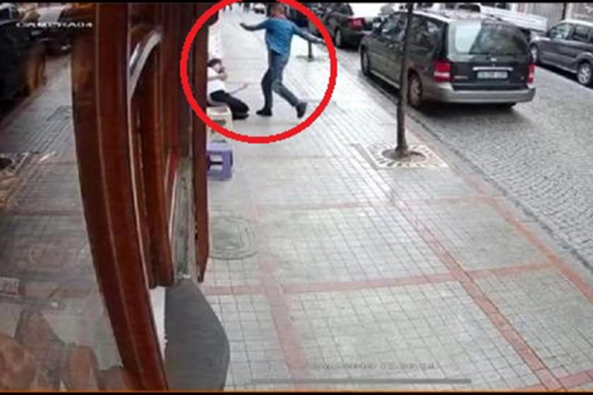 Rabia T'nin Besim Güngör'ün saldırısına uğradığı ana dair güvenlik kamerasından alınan görüntü