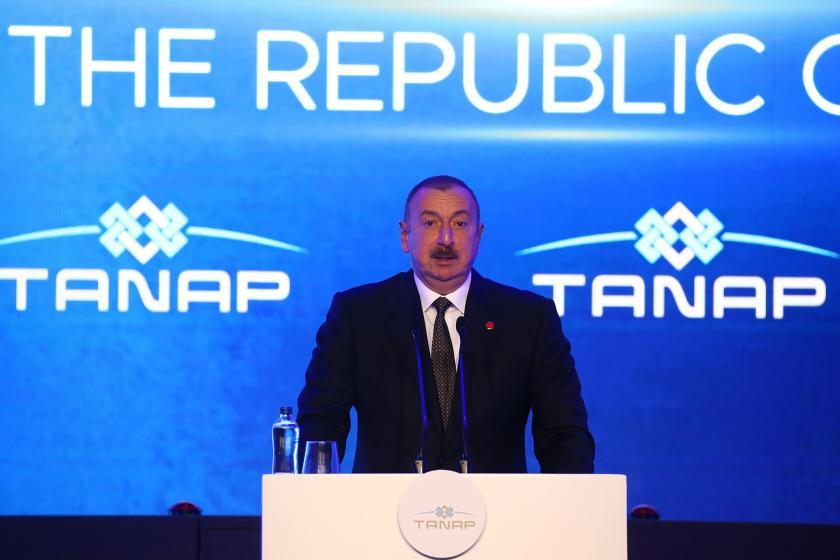 Azerbaycan Cumhurbaşkanı İlham Aliyev  konuşuyor