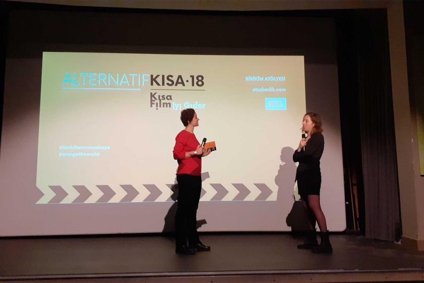 Alternatif Kısa Film etkinliğinin sahnesi