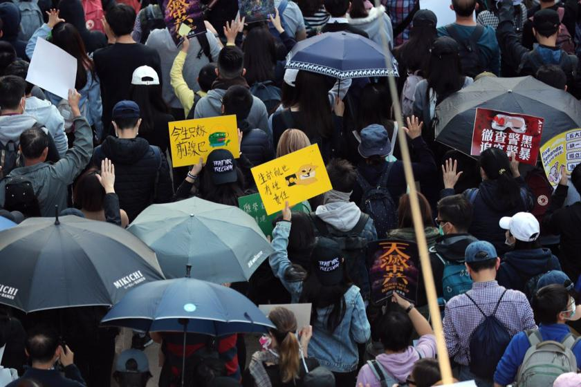 Hong Kong'da eylem düzenleniyor