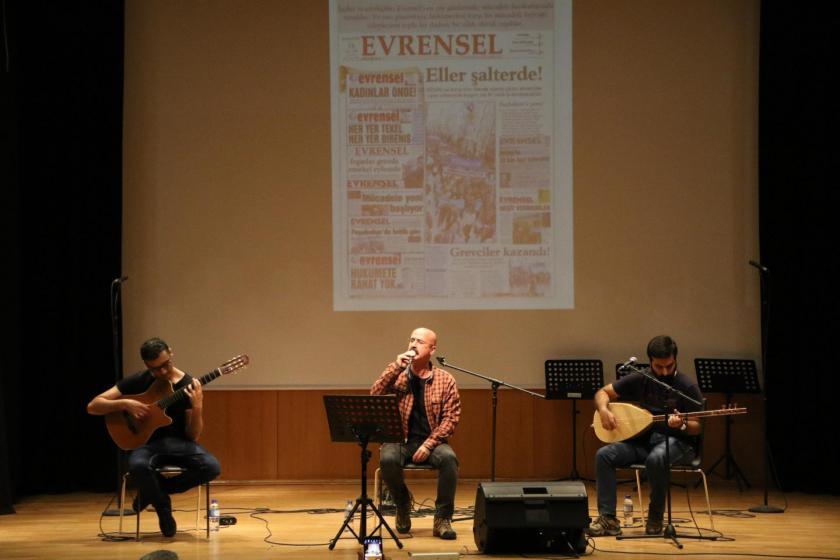 Grup Kibele, Ankara'da düzenlenen Evrensel ile dayanışma etkinliğinde sahne alırken