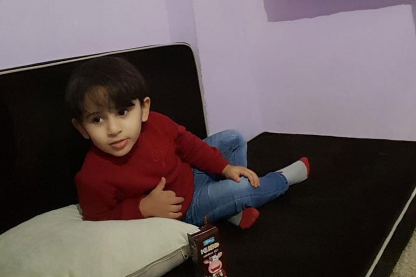4 yaşındaki Hasan Dako'nun bir fotoğrafı.