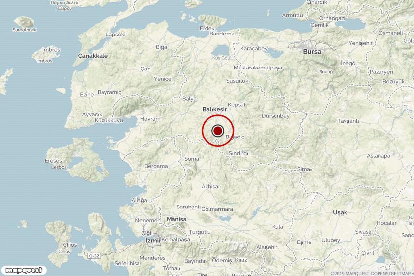 Balıkesir'deki depremin merkezi