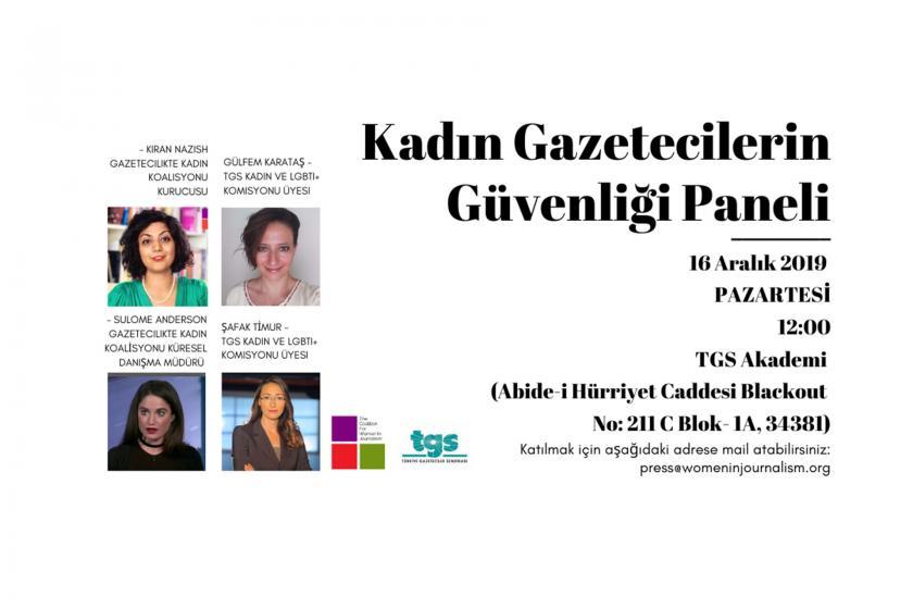 Gazetecilikte Kadın Koalisyonu ve Türkiye Gazeteciler Sendikasının düzenlediği
