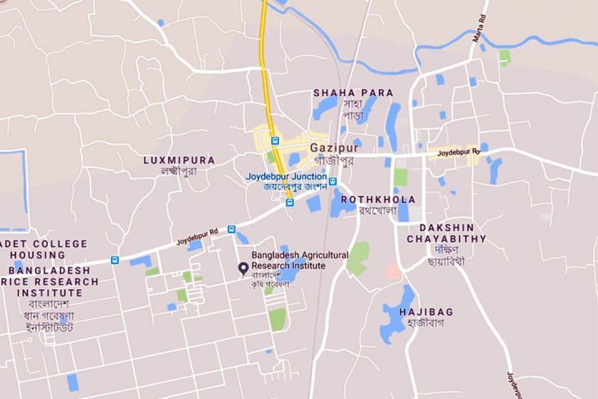 Dakka'nın Gazipur bölgesi.