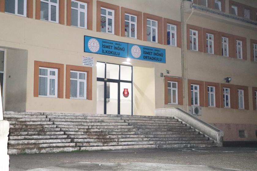Zonguldak Ereğli İsmet İnönü İlk ve Ortaokulunun dıştan görünümü