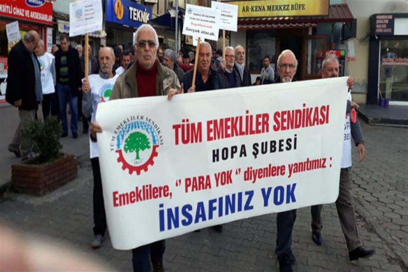 Tüm Emekliler Sendikası Hopa Şubesi yürüyüş düzenliyor