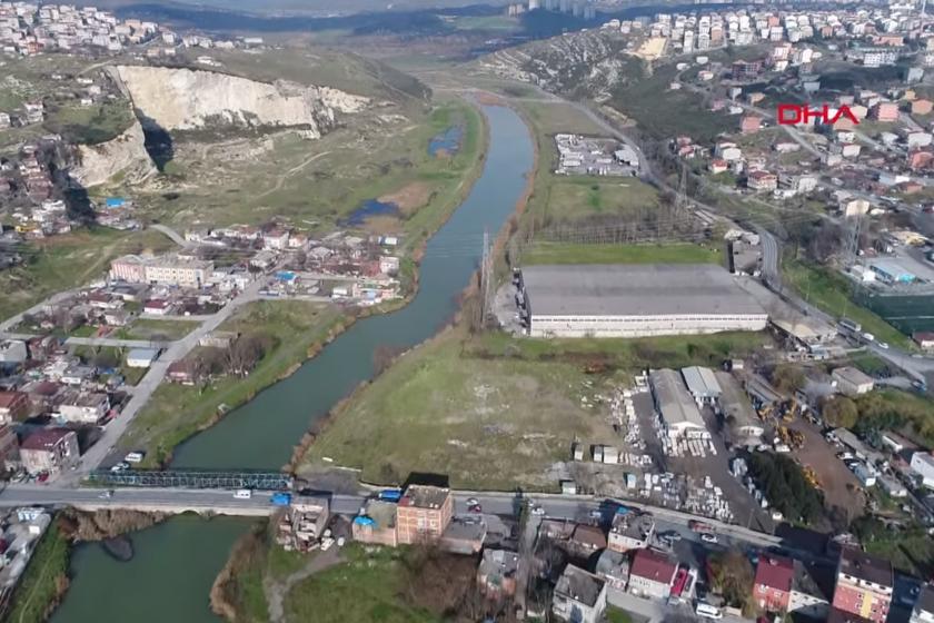 Kanal İstanbul'un yapılmak istendiği güzergahın havadan görüntüsü