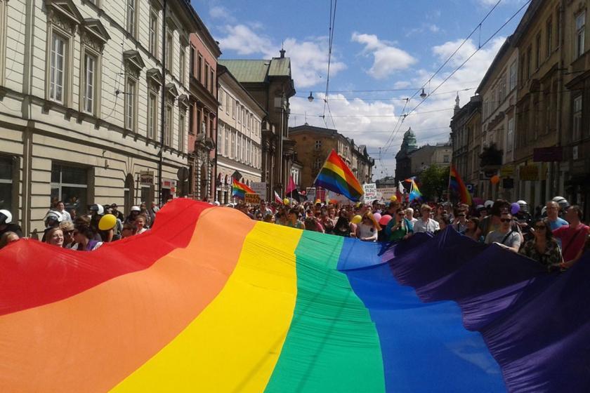 Polonya'da LGBTİ+ gösterisi.
