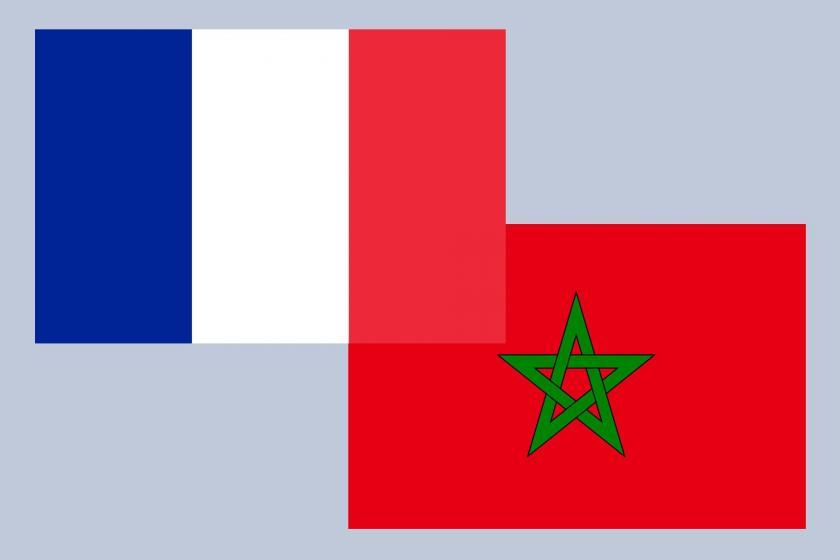 Fransa ve Fas bayrakları