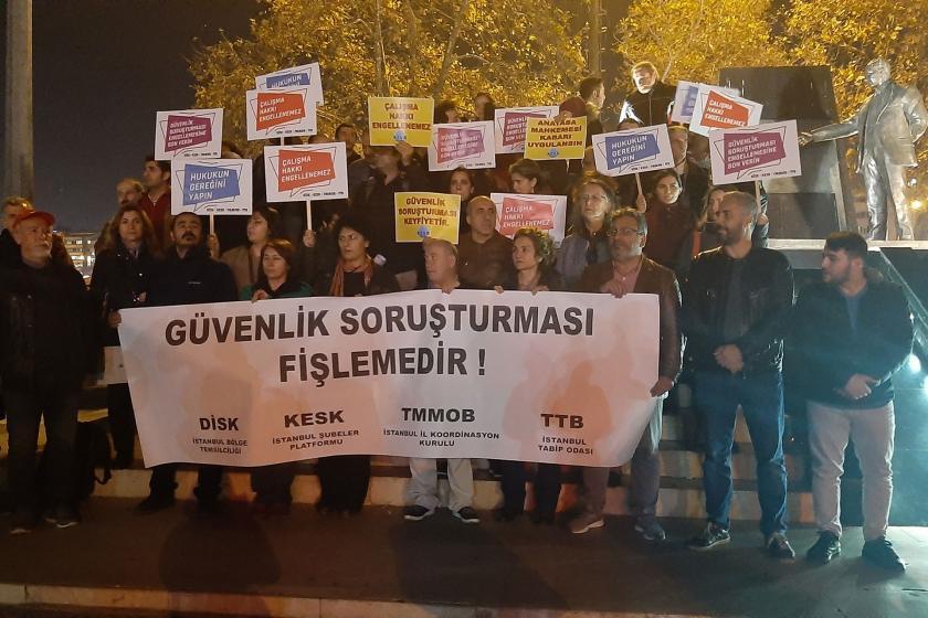 İstanbul Kadıköy'deki güvenlik soruşturması eylemi