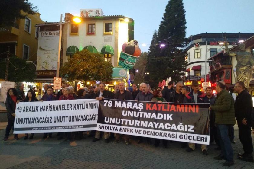 Antalya Emek ve Demokrasi Güçleri'nin basın açıklaması