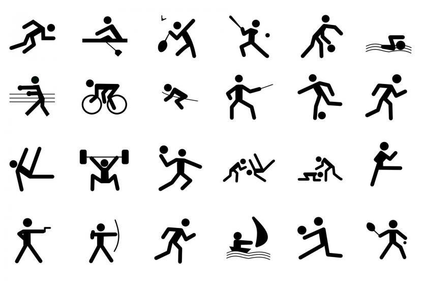 Sporcuları sembolize eden çöp insanlar