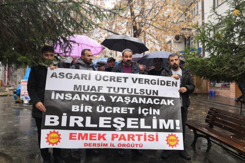 Emek Partisi Dersim İl Örgütü'nün asgari ücret açıklaması