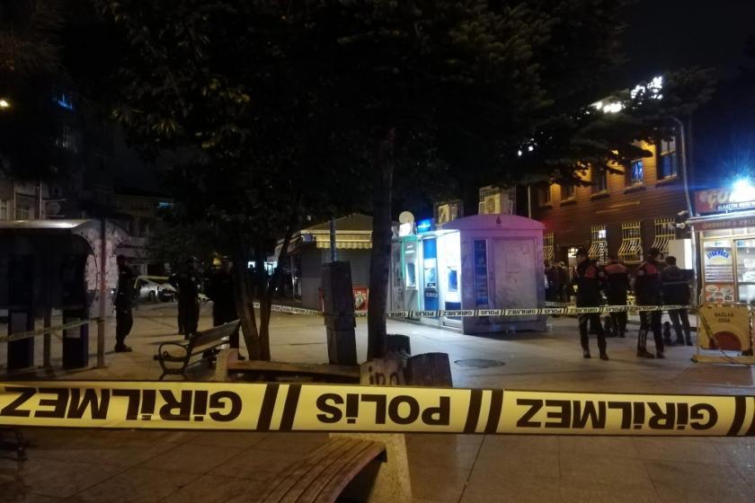 Samatya'da olayın yaşandığı kafe ve çevresi polis şeridi ile kapatılmışken