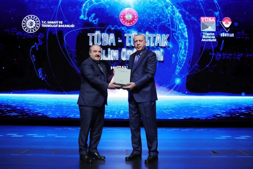 Tayyip Erdoğan Tübitak Bilim Ödülleri Töreninde