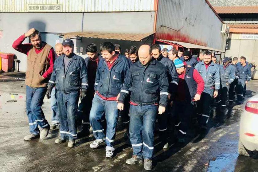 MESS dayatmalarına karşı eylem yapan metal işçileri