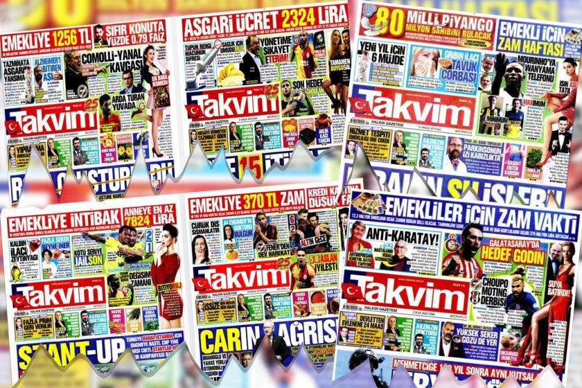 Takvim manşetleri kolajı