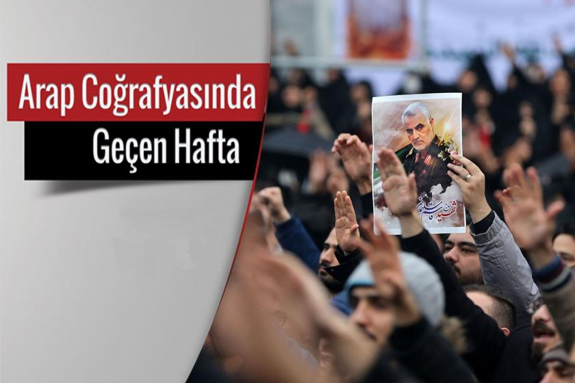 İranlı Komutan Kasım Süleymani'nin öldürülmesinin ardından yapılan protesto