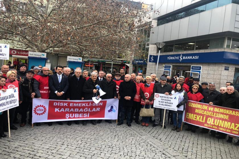 Emekli-Sen ücretlere yapılan zamlara karşı basın açıklaması yaptı