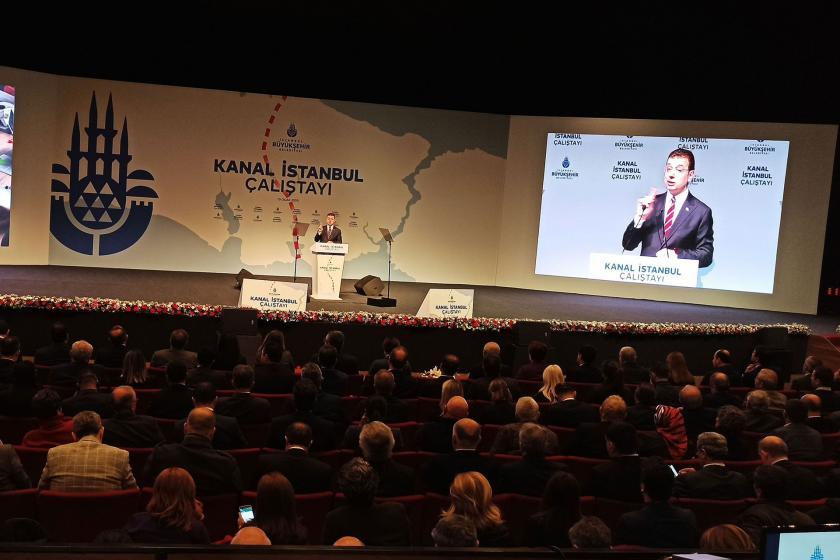 Kanal İstanbul Çalıştay'ında konuşan İmamoğlu