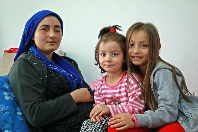 Soldan sağa: Elif Kesler, Beyza Kesler ve Zeynep Kesler