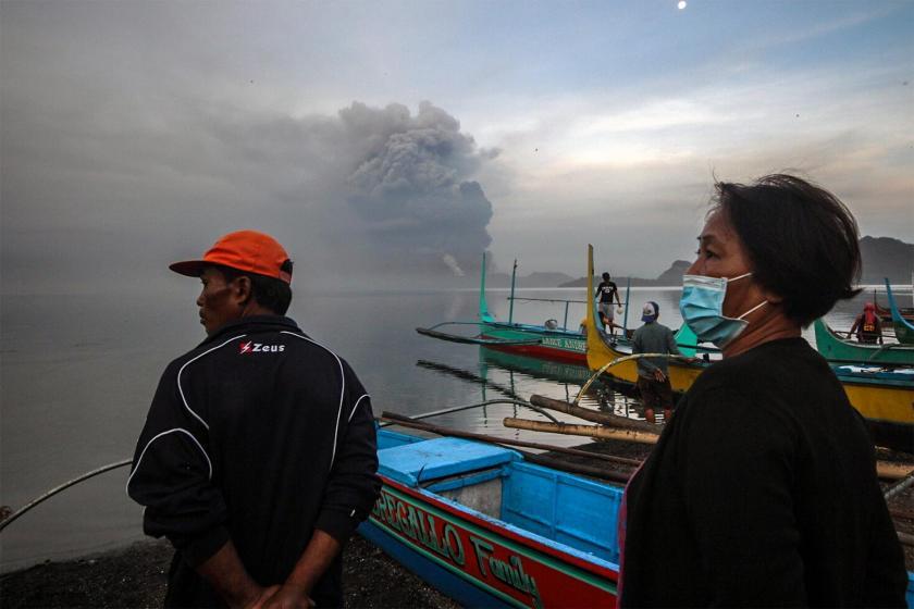 Taal Yanardağı'nda yaşanan ikinci patlama