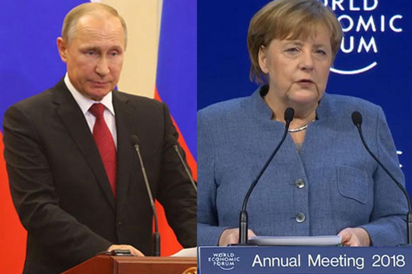 Putin ve Merkel