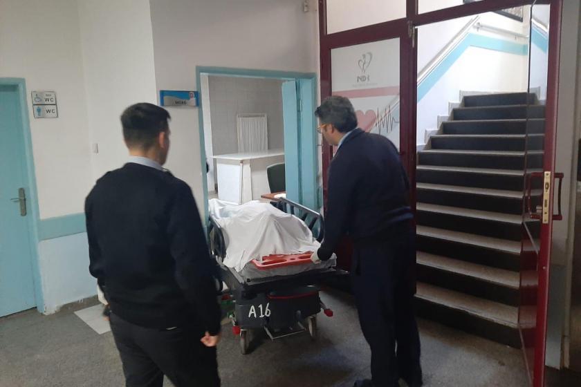 İş cinayetinde yaşamını yitiren Hüseyin Turan morga kaldırılırken