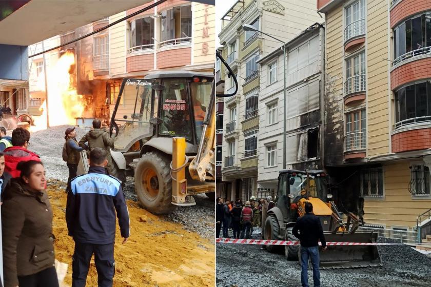 Esenyurt'ta doğal gaz patlaması nedeniyle çıkan yangın ve yangın sonrası