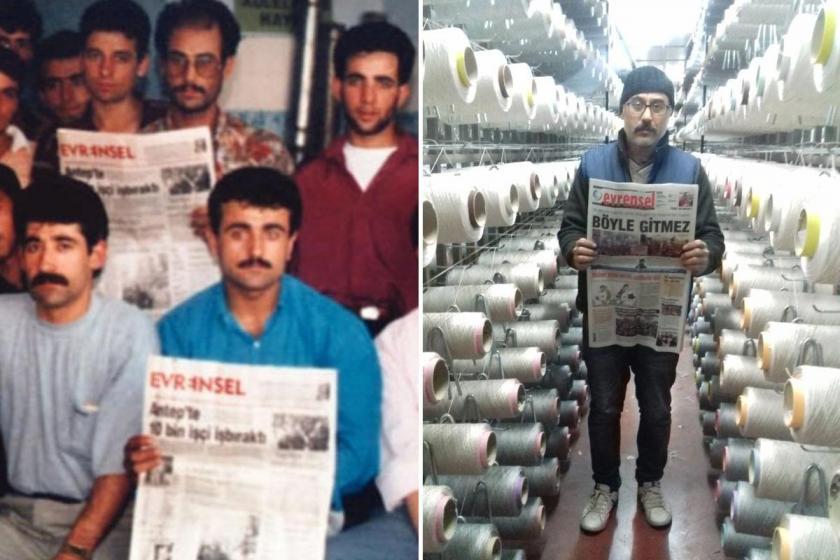 1996'daki dokuma direnişinden ve bugünden Evrensel okuyan dokuma işçileri