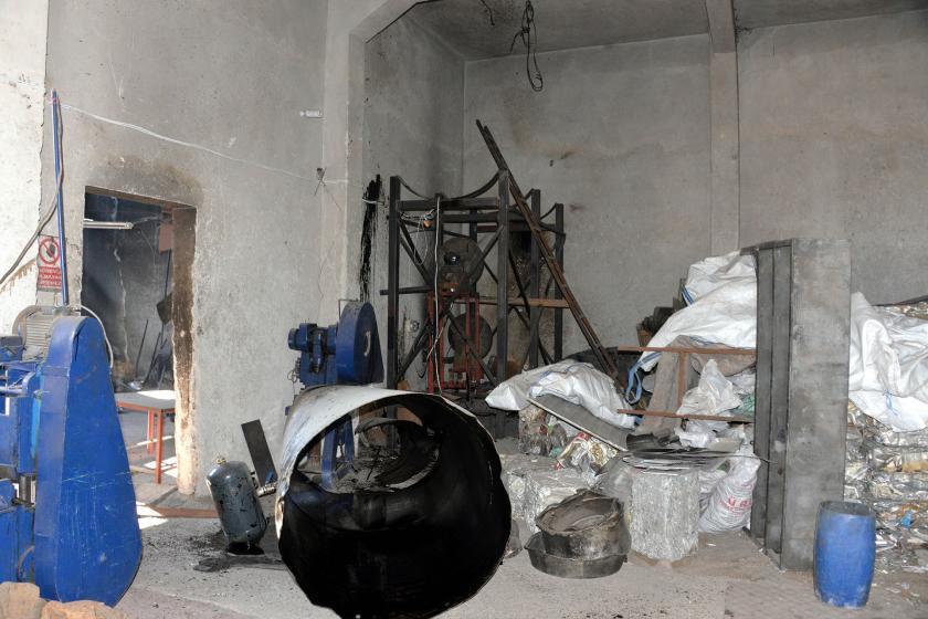 Maraş'ta patlama olan işyeri