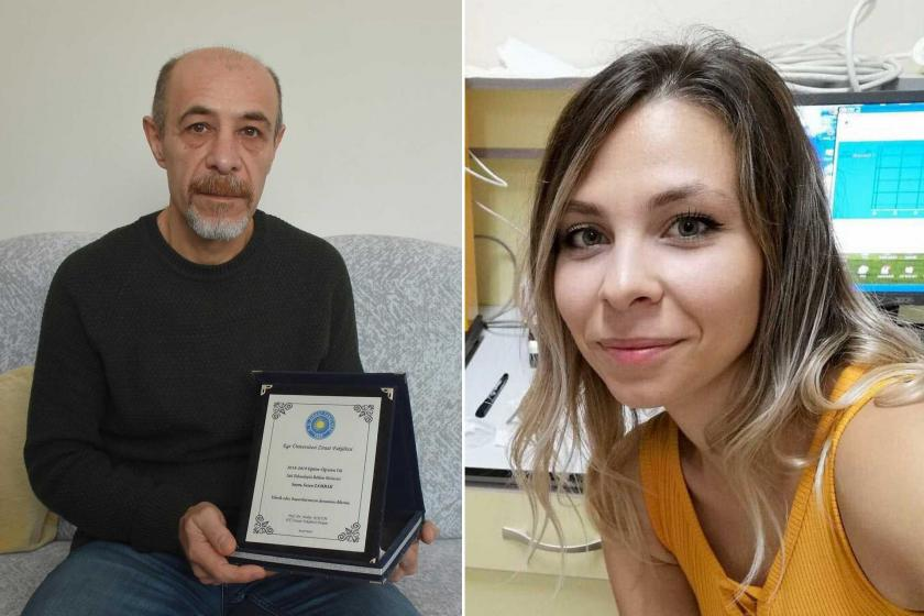 Metin Zambak (solda) ve kızı Sezen Zambak