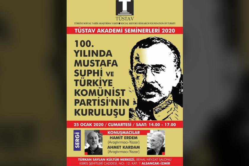 TÜSTAV tarafından düzenlenen panelin afişi