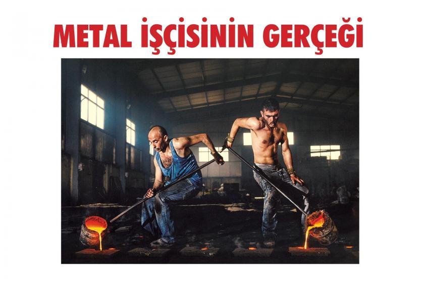 Birleşilk Metal-İş'in hazırladığı 'Metal İşçisinin Gerçeği' adlı raporun kapağı