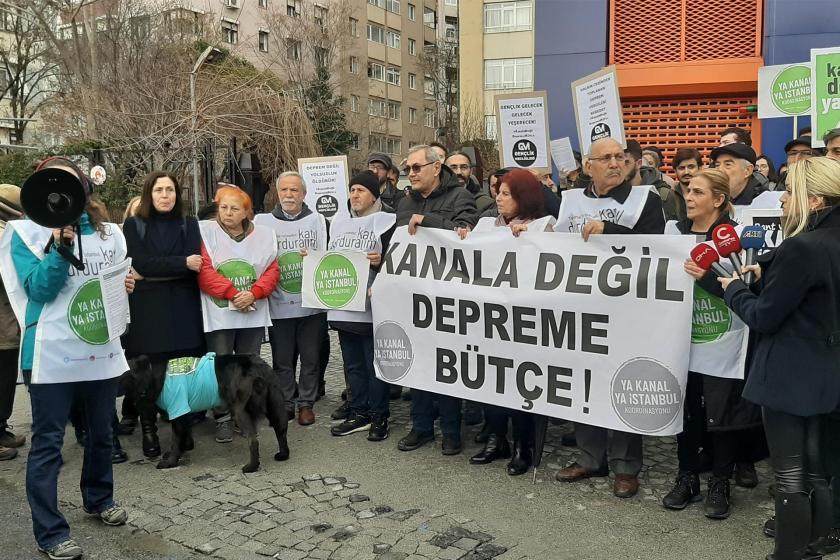 Ya Kanal Ya İstanbul Koordinasyonunun basın açıklaması