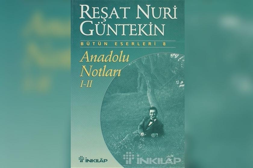 Reşat Nuri Güntekin'in Anadolu Notları kitabı kapağı
