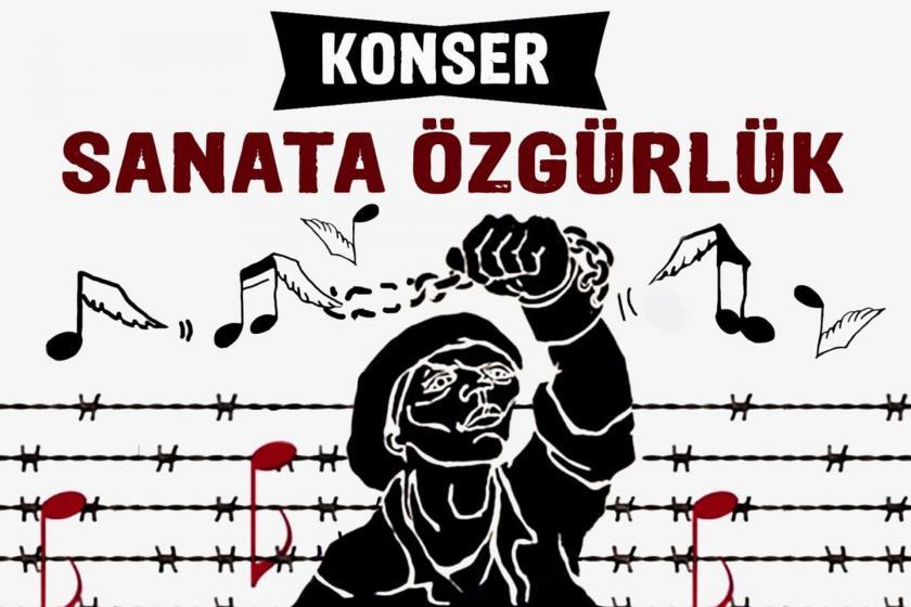 Sanata Özgürlük konseri afişi