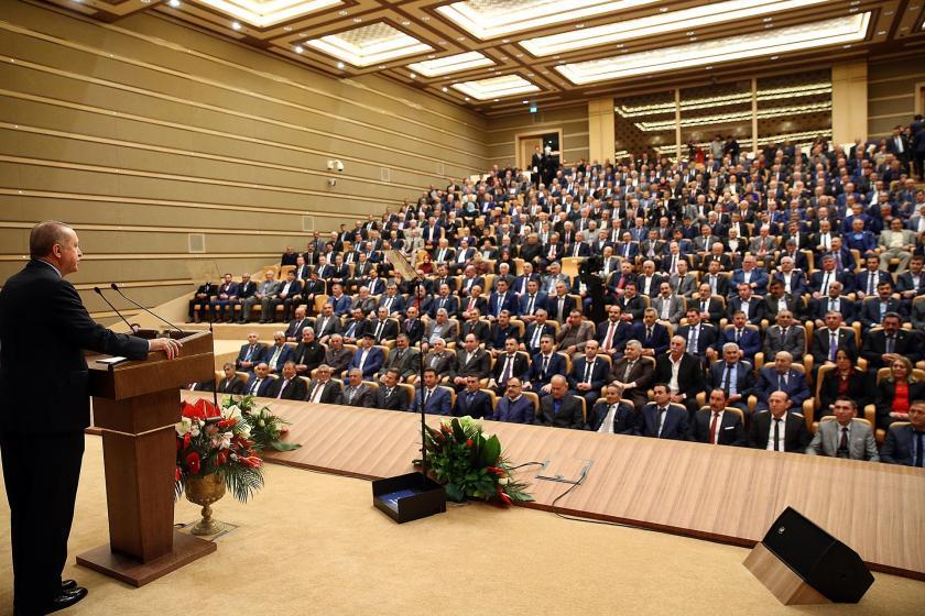 Cumhurbaşkanı Recep Tayyip Erdoğan,  46. Muhtarlar Toplantısı'nda, Adana, Balıkesir, Bolu, Bursa, Çankırı, Çorum, Erzincan, Kahramanmaraş, Kastamonu, Konya, Samsun, Sinop, Sivas, Yozgat ve Zonguldak'tan gelen muhtarlara hitap etti.