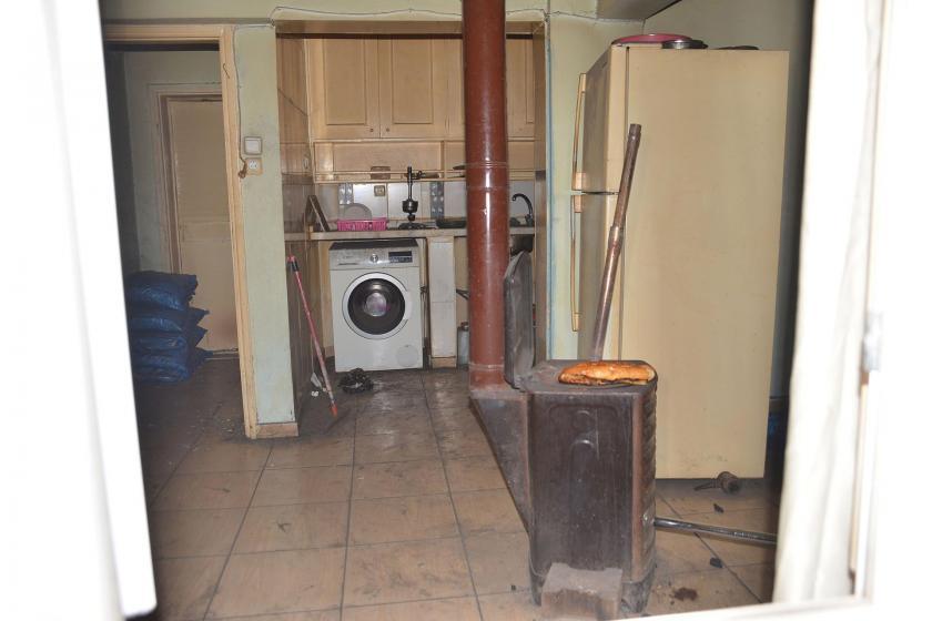 Evin içinde yer alan soba