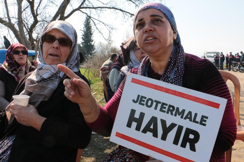Aydın Efeler'de yapılmak istenen JES'e karşı köylüler mücadele ediyor.