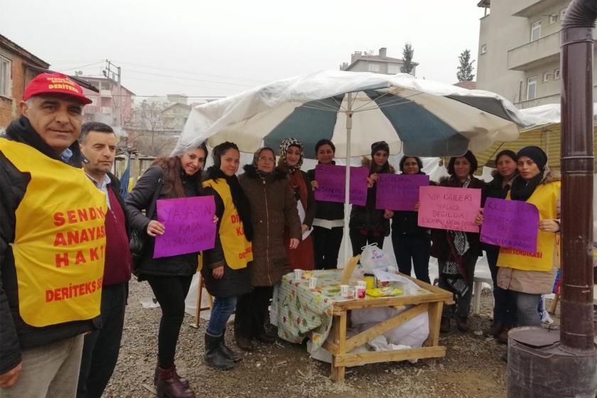 Vip Tekstil işçilerini ziyaret eden Esenyalı Kadın Dayanışma Derneği