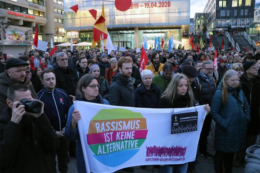Almanya'da Hanua Katliamına karşı düzenlenen eylem