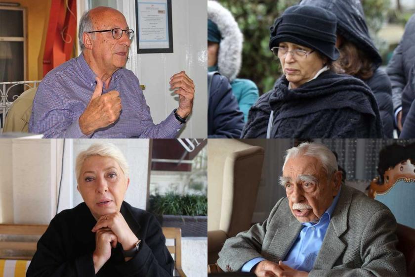Rıza Türmen, Rakel Dink, Nesrin Nas ve Tarık Ziya Ekinci fotoğrafları ile kolaj.