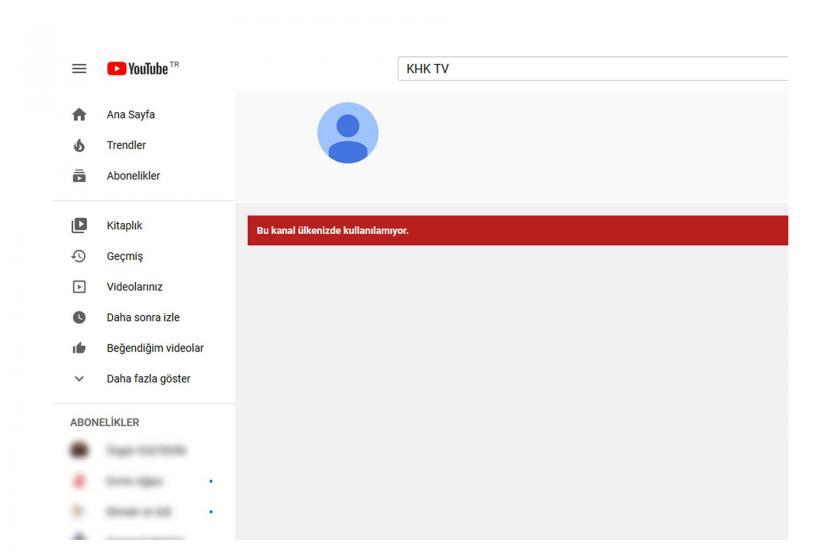 KHK TV'nin YouTube kanalından alınan ekran alıntısı