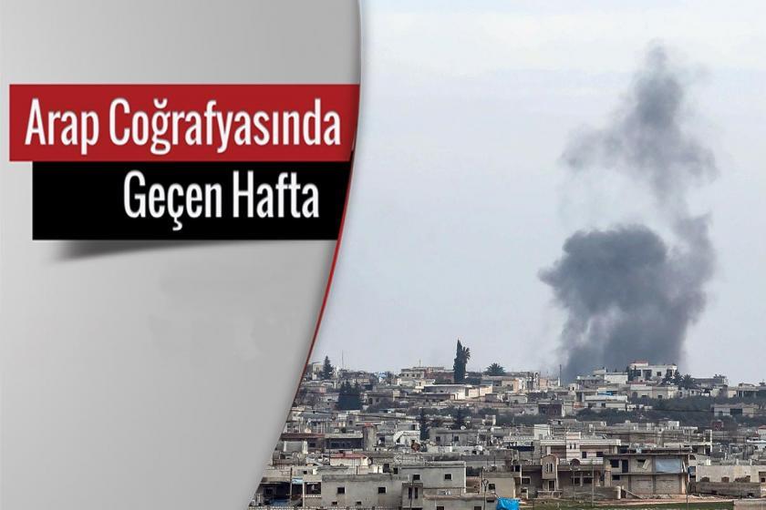 İdlib merkezi, gökyüzüne yükselen duman